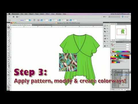 Easy Fashion Design Illustrator Rendering - My Practical