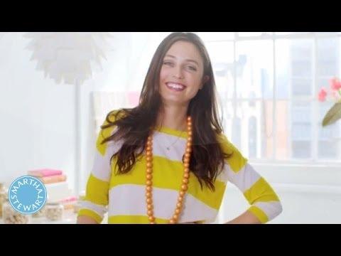 Pastel Pearl Wooden Bead Necklace - DIY Style - Martha Stewart