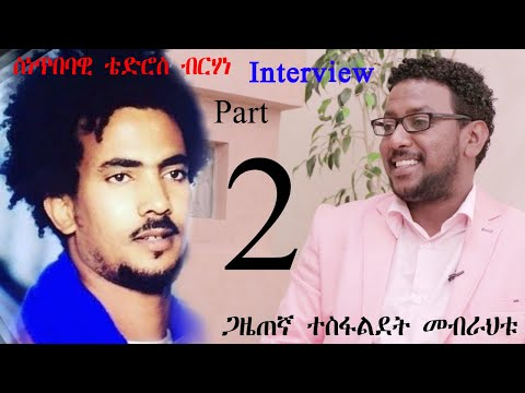 New Eritrean interview Part 2 Artist Tedros Berhane 2020 ቴድሮስ ብርሃነ interviewed by Tesfaldet mebrahtu