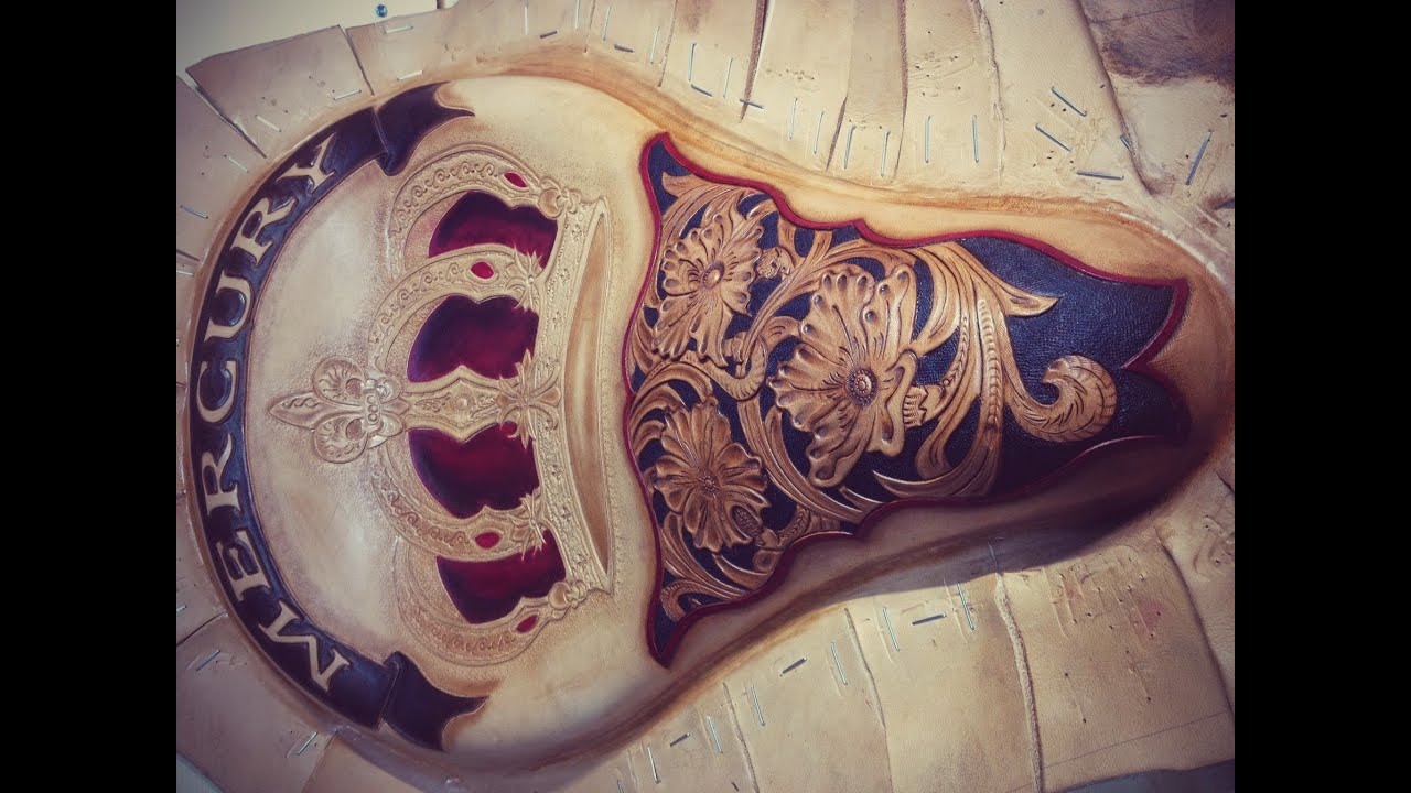 【leather Craft 】motorcycle Seat Part 3 Youtube