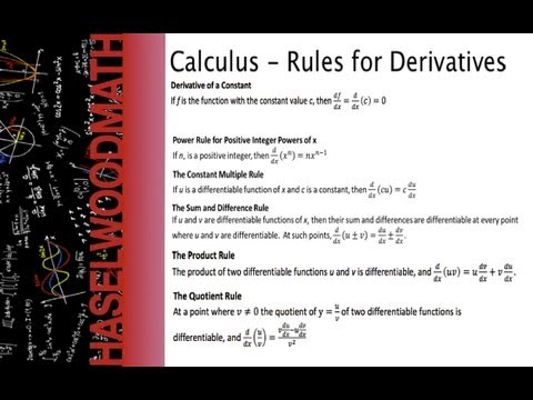 Calculus - 3 3 Notes: Derivative Rules