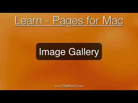 How to build an interactive image gallery in Pages for Mac!