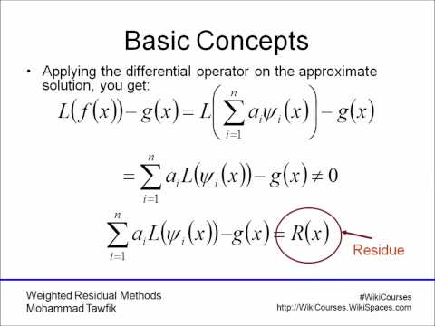 Weighted Residual Methods: Basic Concepts