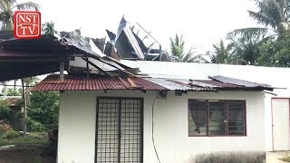 Violent storm rips through Penang village