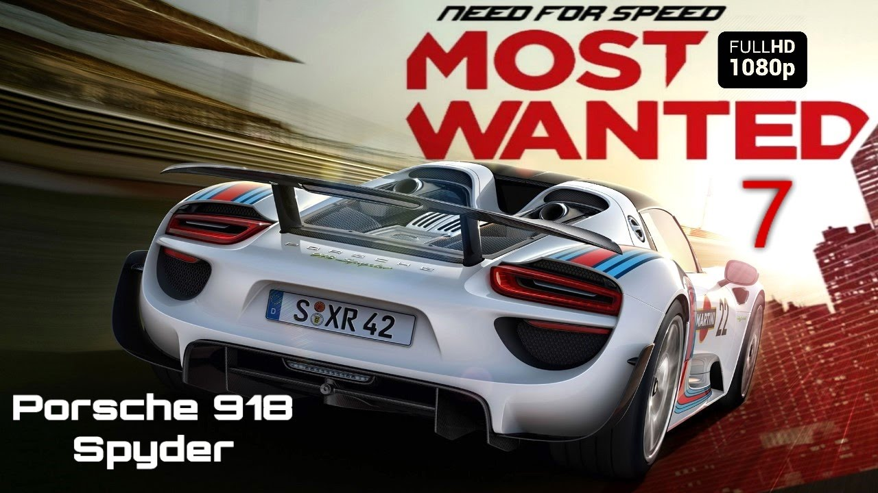 need for speed most wanted 7 porsche 918 spyder youtube. Black Bedroom Furniture Sets. Home Design Ideas