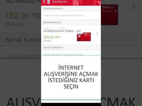 ziraat kartımı internet alışverişine açma