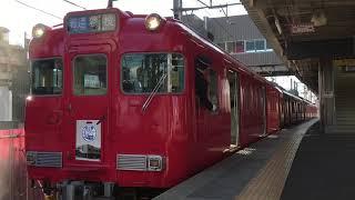 [知立駅60周年系統板‼️]名鉄6000系三河ワンマン車 6040f+6038f(普通猿投行き)知立駅 発車‼️