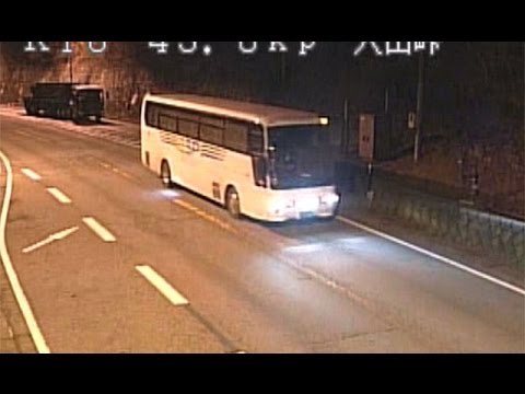 長野・軽井沢バス転落事故、国交省カメラ映像公開=250メートル手前で異変か