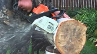 Бензопила Штиль. Заточка цепи болгаркой(В этом видео я показываю как заточить цепь бензопилы штиль самостоятельно, если у вас нет специального..., 2015-09-11T18:15:49.000Z)