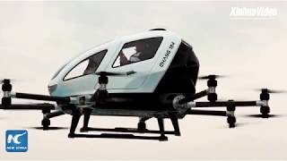World's first passenger drone Ehang 184 takes to t...