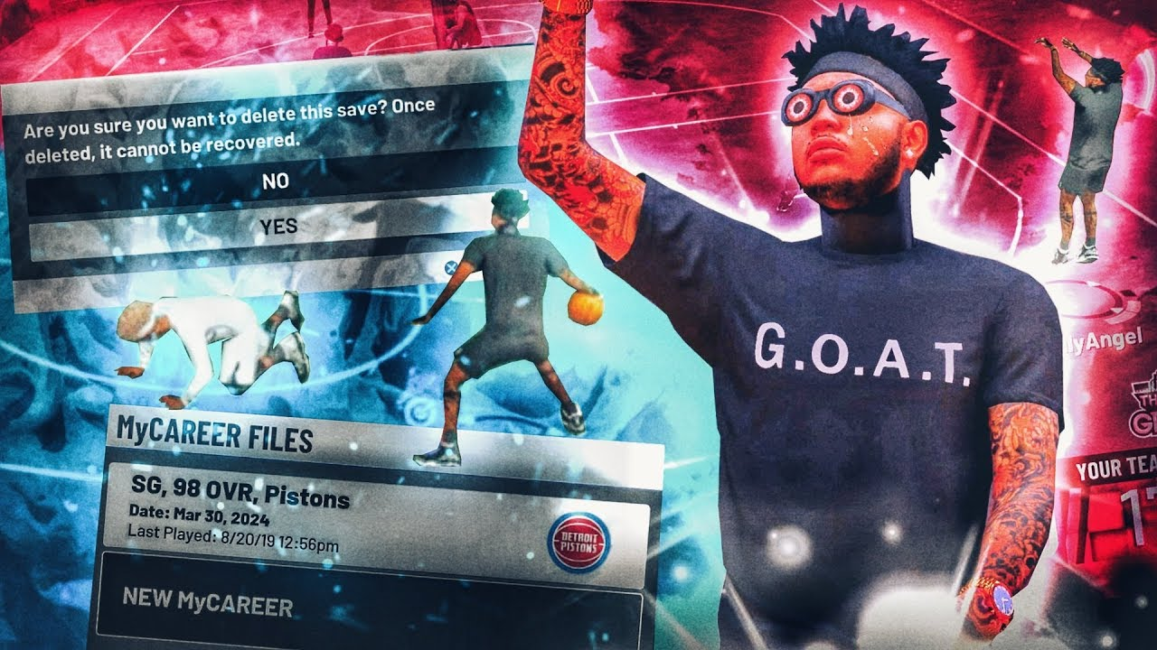 saying goodbye to nba 2k19 and deleting my 99 overall playsharp! emotional  reaction