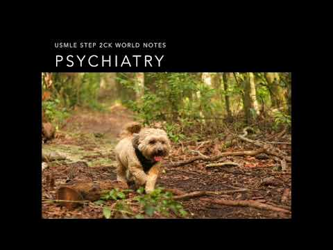 Psychiatry USMLE STEP 2CK UWORLD High Yield Notes Audio Lecture