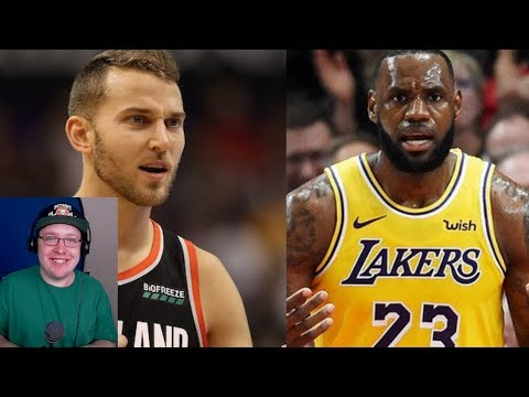 LEBRON JAMES DEBUT! NIK STAUSKAS GOES OFF! LA LAKERS VS PORTLAND TRAILBLAZERS! NBA REACTION