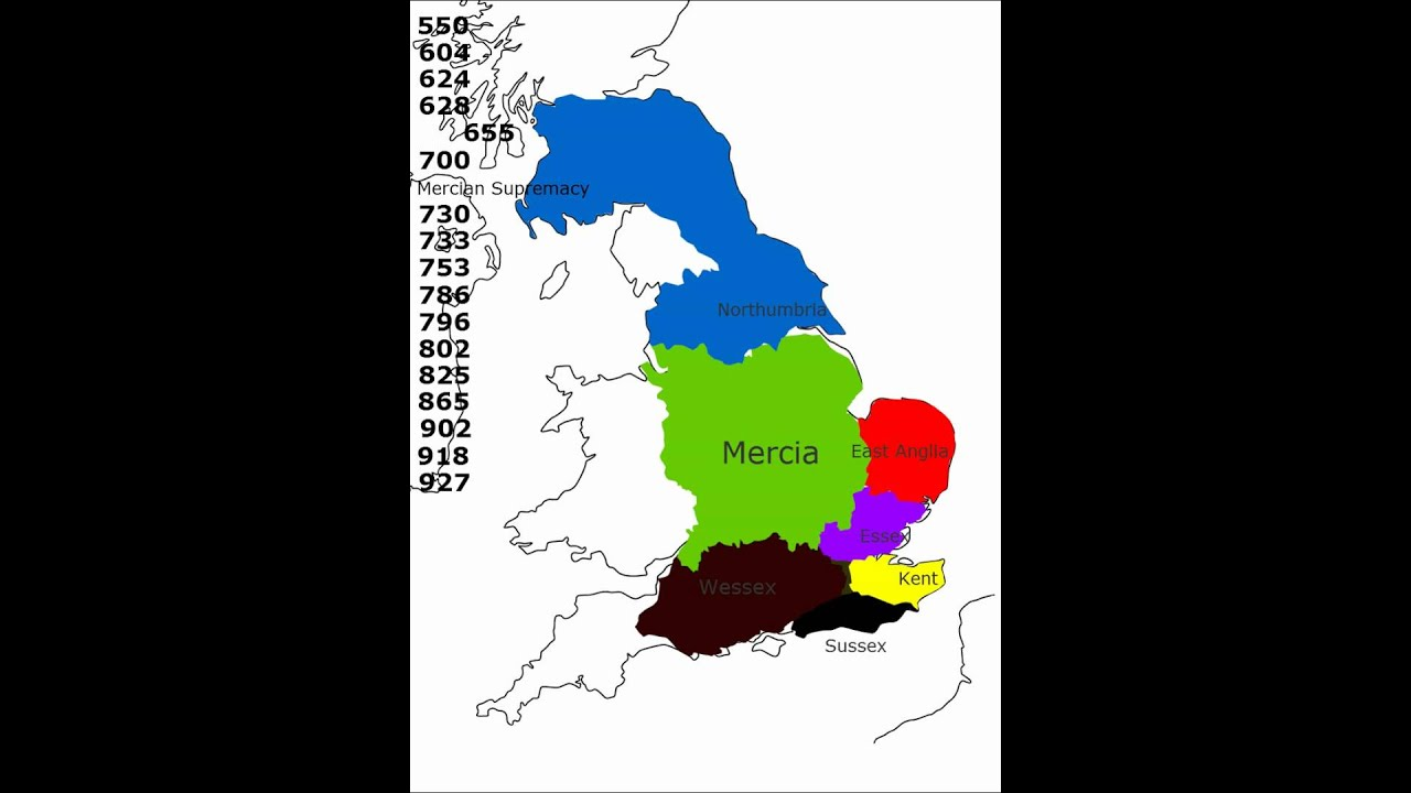 Map Of England 700ad.History Of England