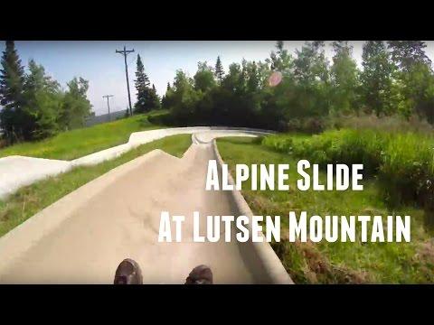 Alpine Slide at Lutsen Mountain in Minnesota