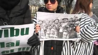 Пикет в защиту Лайлы Брице около МИД Латвии 2 марта 2016 года. (2)