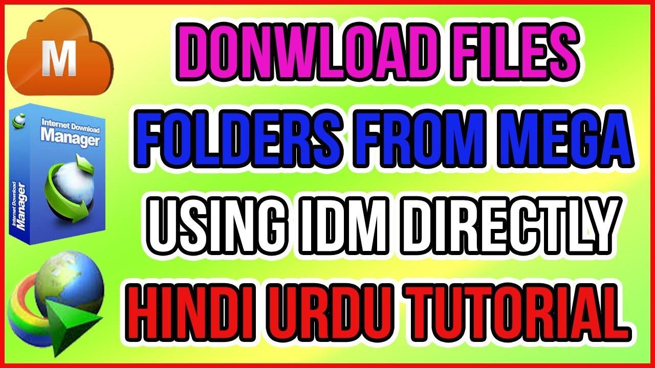 Download Files Folders from MEGA using IDM directly, Hindi Urdu Tutorial