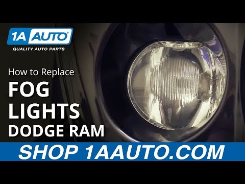 How to Install Replace Fog Lights 2002-08 Dodge Ram 1500 BUY QUALITY AUTO PARTS AT 1AAUTO.COM