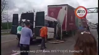Первые минуты после смертельного ДТП с маршруткой на трассе Киев-Чоп.   В пятницу, 20 июля на 127 км