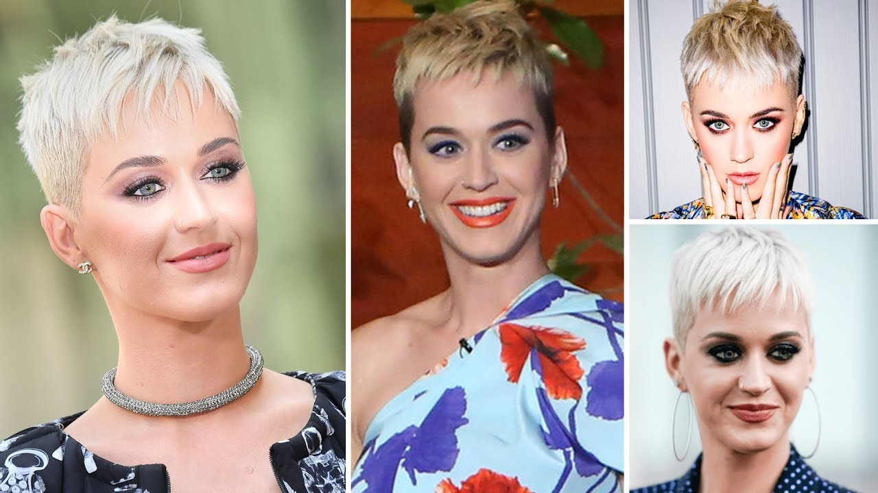 Singer Katy Perry S New Look And Hair Styles Of 2017 Katy Perry S Short Hair Styles 2017 Youtube