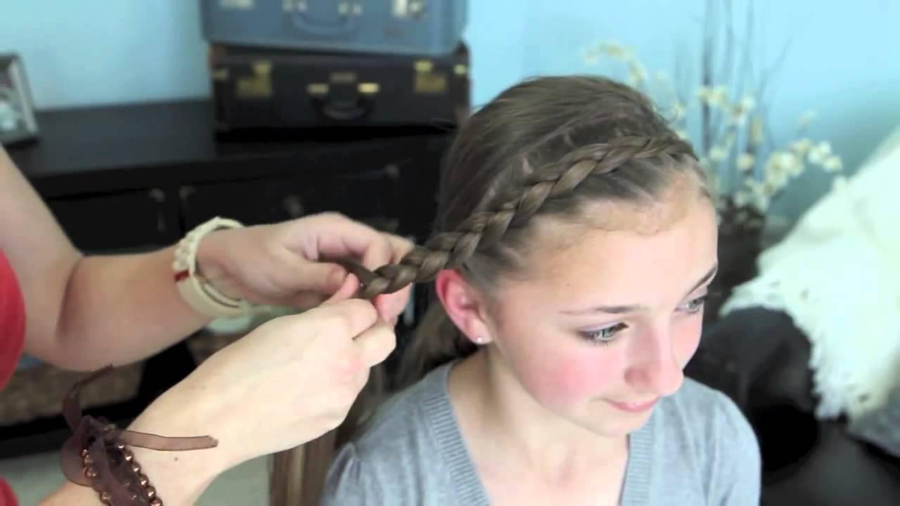 Dutch Braided Headband Dance Moms Cute Girls Hairstyles Youtube