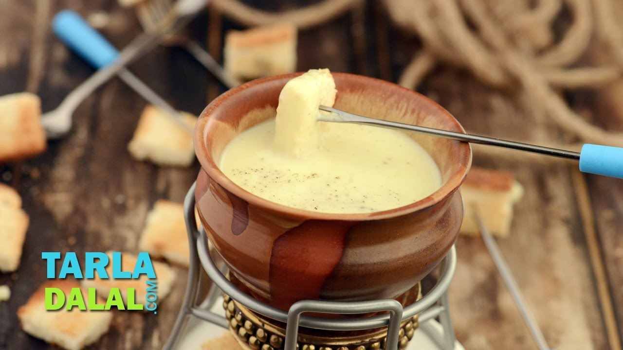 Cheese Fondue by Tarla Dalal