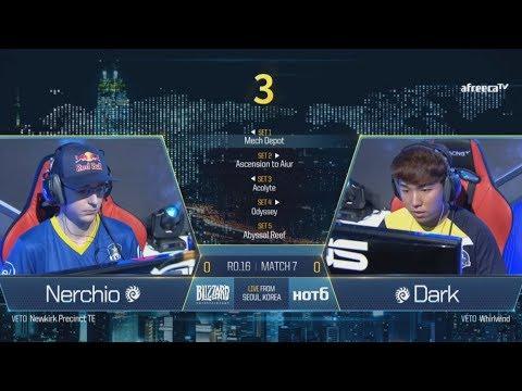 [GSL vs. the World 2017] Ro.16 Day2 Match3 Nerchio vs Dark