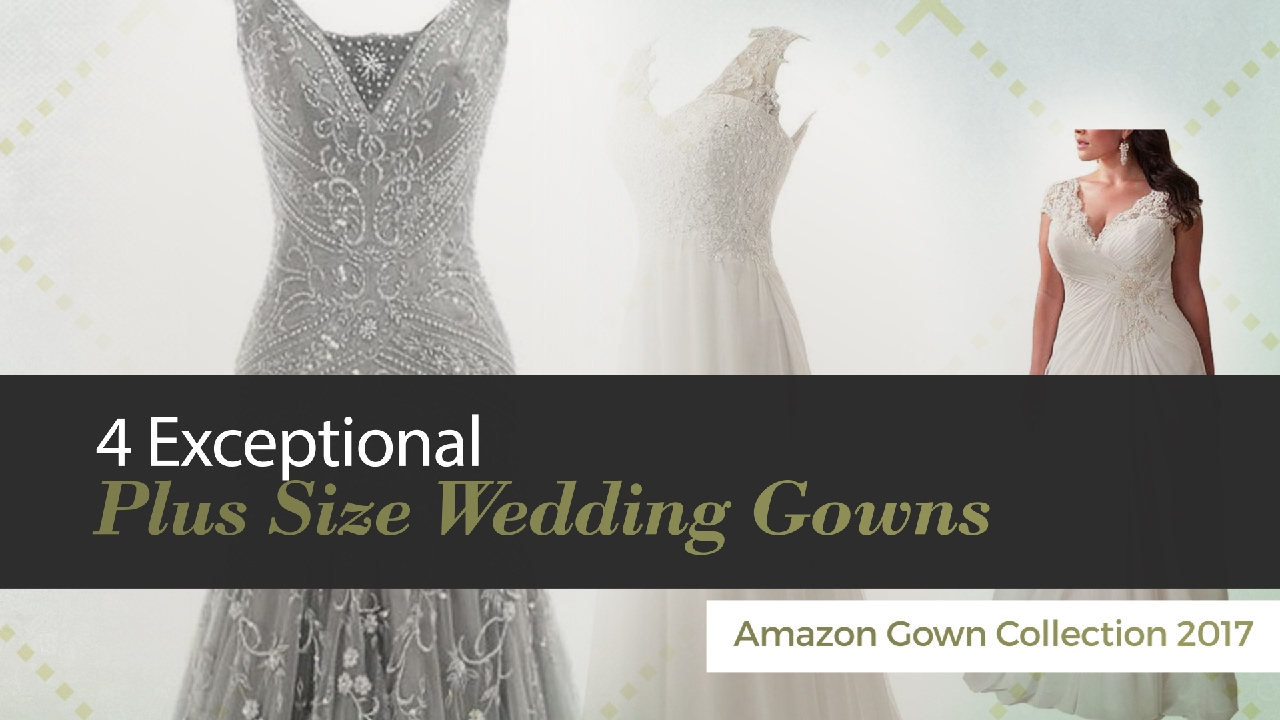 4 Exceptional Plus Size Wedding Gowns Amazon Gown Collection 2017