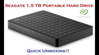 Seagate 1.5 TB Portable External Hard Drive Unboxing!!