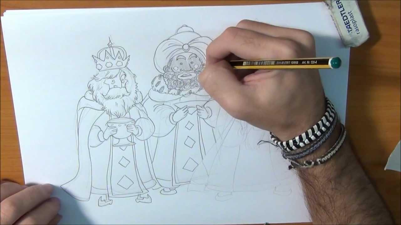 Aprende A Dibujar A Los Tres Reyes Magos Youtube