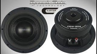 Dynamic State CSW 204 CUSTOM Series сабвуфер 8, розпакування, огляд