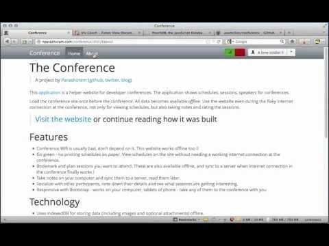 Parashuram's blog: A website for dev conferences - PouchDB example