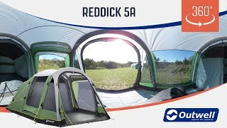 Outwell Reddick 5A Air Tent - 360 video (2019)