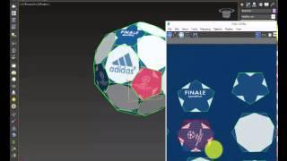 видео Футбольный мяч в 3ds Max