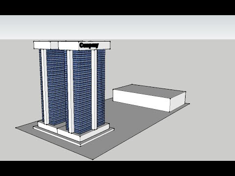 Office buildings sketchup speed build youtube for Sketchup building