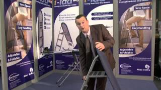 Ilad Space Saving Ironing Board Step Ladder