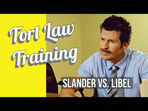 Tort Law project: Slander vs Libel