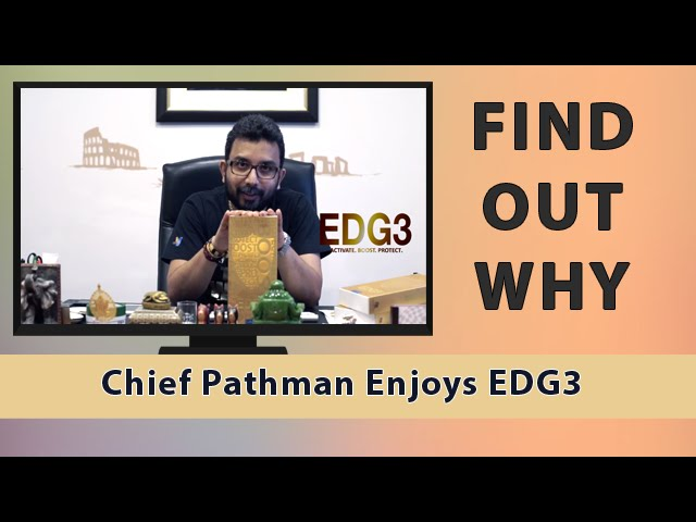 QNET Testimonials |  Chief Pathman Talks About His Favorite Product, EDG3!