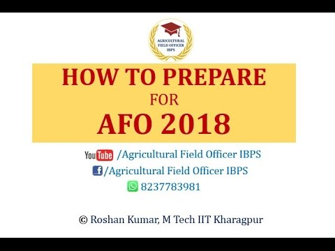 How to prepare for AFO 2018 Agricultural field officer IBPS