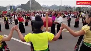 Nhạc Múa Xòe Tây Bắc Múa Xòe Tại Quảng Trường Tây Bắc Sơn La Mừng Xuân Canh Tý 2020