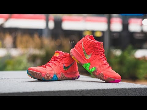 NIKE KYRIE 4 70 s DECADES PACK REVIEW   DOPE ON FEET!! eb4a1224e