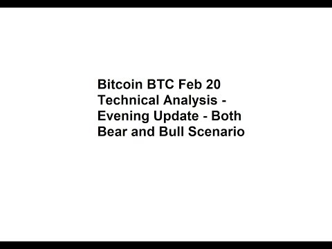 Bitcoin BTC Feb 20 Technical Analysis - Evening Update - Both Bear and Bull Scenario