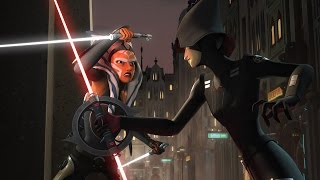 The Rebels vs The Inquisitors Lightsaber Fight