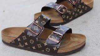 Custom LV x BIRKENSTOCKS - Full Customization ( Tutorial )