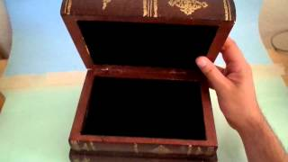 Wooden 3 Book Stack Box