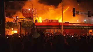 George Floyd death: Minneapolis police station torched amid protest