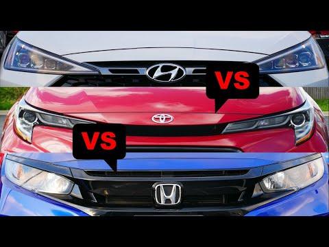 2020 Toyota Corolla vs 2019 Honda Civic vs 2019 Hyundai Elantra