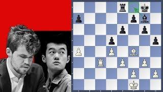 The World Champion in trouble - Ding Liren vs Carlsen   Shamkir Chess 2019