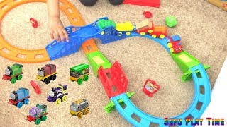 PRESCHOOL TRAIN PLAY SET | kids toys railway wagon tunnel and thomas with Sefu Play Time