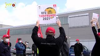 Pfullinger Daimler-Mitarbeiter demonstrieren